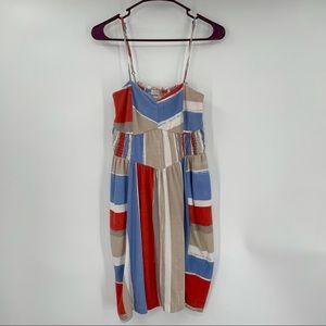 Billabong Blue, White & Orange Print Dress